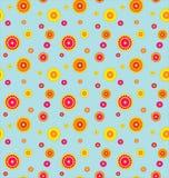Patroon met bloemen op een blauwe achtergrond. vector illustratie