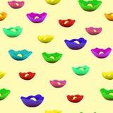 Patroon met bloemen van waterlelies van verschillende kleuren royalty-vrije illustratie