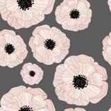 Patroon met bloemenachtergrond royalty-vrije illustratie