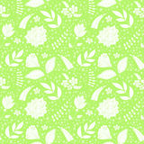 Patroon met bloemenelementen Stock Afbeeldingen