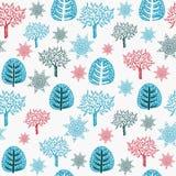 patroon met bomen. Royalty-vrije Stock Afbeeldingen