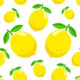Patroon met citroenen vector illustratie