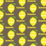 Patroon met citroenen Stock Afbeelding