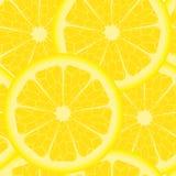 Patroon met citroenen Royalty-vrije Stock Afbeeldingen