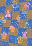 Patroon met controleur en schaak Royalty-vrije Stock Fotografie