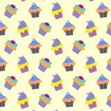 Patroon met cupcakes Stock Foto