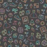 Patroon met de zomersymbolen Stock Foto's