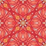 Patroon met decoratief symmetrisch ornament vector illustratie