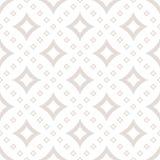 Patroon met diamantvormen in neutrale kleuren Royalty-vrije Stock Fotografie