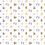 Patroon met elementen voor babydouche vector illustratie