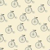Patroon met fietsen Stock Foto