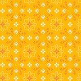 Patroon met geeloranje takken en bladeren, Royalty-vrije Stock Foto's