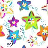 Patroon met gekleurde paraplu's vector illustratie
