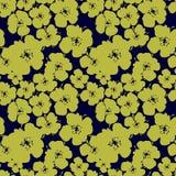 Patroon met gele bloemen Royalty-vrije Illustratie