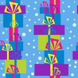 Patroon met giftdozen voor Kerstmis Royalty-vrije Stock Foto