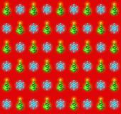 Patroon met gloeiende Kerstmisbomen en Royalty-vrije Stock Foto's