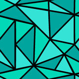 Patroon met groene driehoek Stock Afbeeldingen