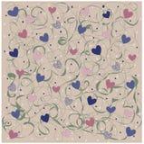 Patroon met hart Royalty-vrije Stock Foto's