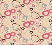 Patroon met harten Stock Afbeeldingen