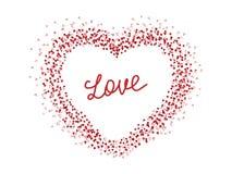 Patroon met harten De dagachtergrond van Valentine ` s Liefde Vector illustratie vector illustratie