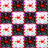 Patroon met harten en pijlen Stock Foto's