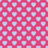 Patroon met harten Vlakke Skandinavische stijl voor druk op stof, giftomslag, Webachtergronden, schroot het boeken, lapwerk royalty-vrije illustratie