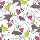 Patroon met het beeld van kleurenkonijnen Royalty-vrije Stock Afbeelding