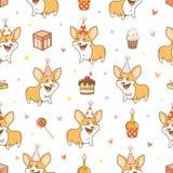 Patroon met honden stock illustratie