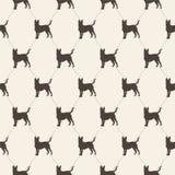 Patroon met honden Naadloze textuur stock illustratie