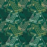 Patroon met huizen Stock Afbeeldingen