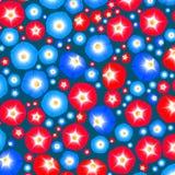Patroon met ipomoeabloemen Stock Afbeelding
