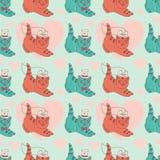 Patroon met katje-gehuwd Vector Illustratie