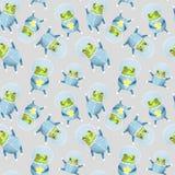 Patroon met kikkerastronaut vector illustratie