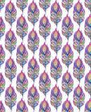 Patroon met kleurrijke abstracte veren Royalty-vrije Stock Foto