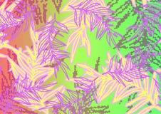 Patroon met kleurrijke bladeren van installaties stock illustratie