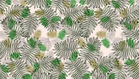 Patroon met kleurrijke bladeren van installaties royalty-vrije illustratie
