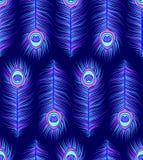 Patroon met kleurrijke pauwveren Royalty-vrije Stock Foto