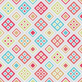Patroon met kleurrijke vierkanten Royalty-vrije Stock Foto