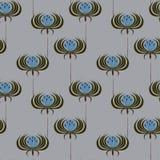 Patroon met leliebloemen Stock Afbeeldingen