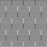 Patroon met lijn zwart-wit in zigzag vector illustratie