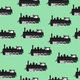 Patroon met locomotieven Royalty-vrije Stock Foto