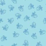 Patroon met magnolia Royalty-vrije Stock Afbeeldingen