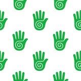 Patroon met menselijke handen Stock Afbeeldingen