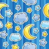 Patroon met nachthemel stock illustratie