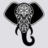 Patroon met Olifant stock illustratie