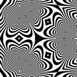 Patroon met optische illusie abstracte achtergrond Optisch art vector illustratie