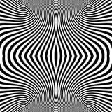 Patroon met optische illusie abstracte achtergrond Optisch art stock illustratie