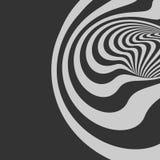 Patroon met optische illusie abstracte achtergrond Optisch art royalty-vrije illustratie