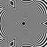 Patroon met optische illusie abstracte achtergrond Optisch art 3d vectorillustratie stock illustratie