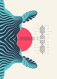 Patroon met optische illusie Abstracte 3d geometrische achtergrond Aziatische vectorillustratie royalty-vrije illustratie